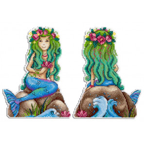 Краса морей Набор для вышивания на пластиковой канве МП Студия Р-464