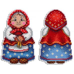 Бабушка Набор для вышивания на пластиковой канве МП Студия Р-468