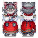Кошка Мурка Набор для вышивания на пластиковой канве МП Студия Р-471
