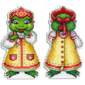 Лягушка-квакушка Набор для вышивания на пластиковой канве МП Студия Р-480