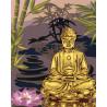 Золотой будда Раскраска картина по номерам на холсте с металлическими красками AAAA-RS057-100x125