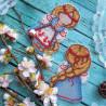 Пример вышитой работы Счастливица. Оберег Набор для вышивания на пластиковой канве МП Студия Р-151
