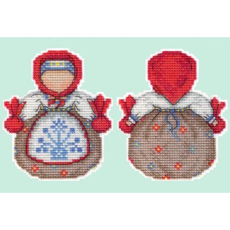 Кубышка. Оберег Набор для вышивания на пластиковой канве МП Студия Р-152
