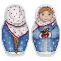 Зимушка зима Набор для вышивания на пластиковой канве МП Студия Р-265
