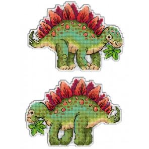 Стегозавр. Динозавры Набор для вышивания на пластиковой канве МП Студия Р-270