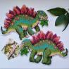 Пример вышитой работы Стегозавр. Динозавры Набор для вышивания на пластиковой канве МП Студия Р-270