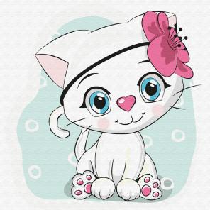 Кошечка-красотка Раскраска картина по номерам на холсте KH0837