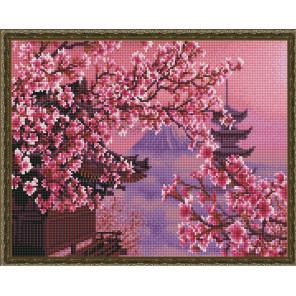 Пример выложенной мозаики Фудзияма Алмазная мозаика вышивка на подрамнике Molly KM0854