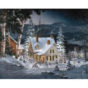 Зимняя тишина Алмазная мозаика вышивка на подрамнике Molly KM0885