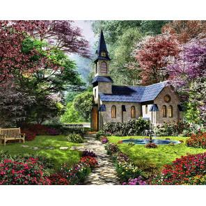 Цветущий сад Алмазная мозаика вышивка на подрамнике Molly KM0886