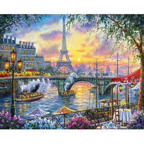 Париж на закате Алмазная мозаика вышивка на подрамнике Molly KM0892