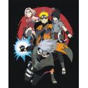 Наруто, Сакура, Саскэ и Какаси. Аниме Раскраска картина по номерам на холсте AAAA-RS058-80x100