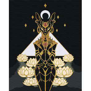 Бастет. Богиня плодородия. Египет Раскраска картина по номерам на холсте с металлическими красками AAAA-RS059-80x100