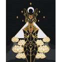 Бастет. Богиня плодородия. Египет Раскраска картина по номерам на холсте с металлическими красками AAAA-RS059-100x125