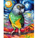 Попугай Раскраска картина по номерам на холсте PK85035
