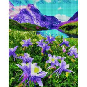 Горные цветы Алмазная вышивка мозаика на подрамнике GF4262