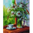 Ромашковое утро Алмазная вышивка мозаика на подрамнике GF4250
