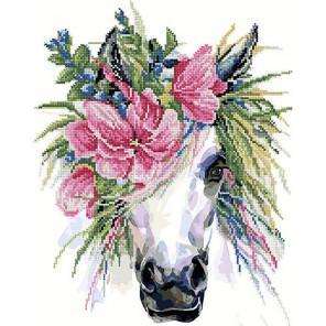 Прекрасная лошадь Алмазная картина-раскраска по номерам на подрамнике PKZS19049