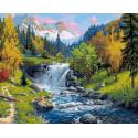 Горный ручей Алмазная картина-раскраска по номерам на подрамнике PKZS59032