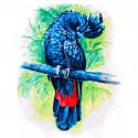 Синий попугай Раскраска картина по номерам на холсте 362-AS