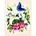 Бабочка в ботаническом саду Раскраска картина по номерам на холсте 363-AS
