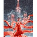 Красная Москва Раскраска картина по номерам на холсте MCA761