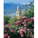 Озеро Лугано Раскраска картина по номерам на холсте GX36920