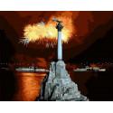 Монумент Славы в Севастополе Раскраска картина по номерам на холсте MCA1044
