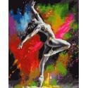 Танец в красках Раскраска картина по номерам на холсте MCA1045