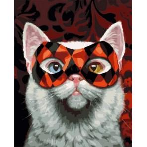 Кошачий маскарад Раскраска картина по номерам на холсте MCA1083