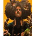 Африканское искусство Раскраска картина по номерам на холсте MCA1101