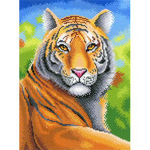 Царственный тигр Канва с рисунком для вышивки МП Студия СК-067