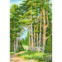 На лесной тропинке Канва с рисунком для вышивки МП Студия СК-069