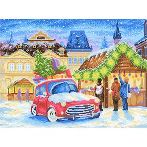 Рождественская ярмарка Канва с рисунком для вышивки МП Студия СК-075