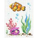 Морская жемчужина Канва с рисунком для вышивки МП Студия СК-076
