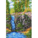 Лесной водопад Канва с рисунком для вышивки МП Студия СК-078