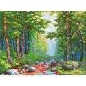 Солнечный ручей Канва с рисунком для вышивки МП Студия СК-079
