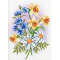 Музыка цветов Канва с рисунком для вышивки МП Студия СК-090
