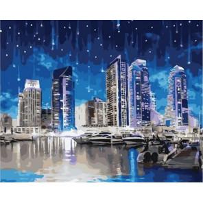 Ночной город Раскраска картина по номерам на холсте GX37420