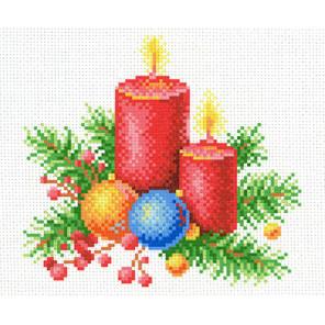 Новогоднее тепло Канва с рисунком для вышивки МП Студия СК-003