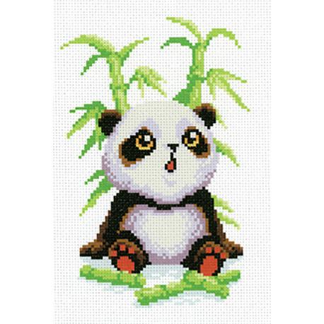 Малыш-панда Канва с рисунком для вышивки МП Студия СК-010