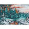 Пример вышитой работы Зимний закат Канва с рисунком для вышивки МП Студия СК-021
