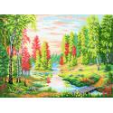 Рассвет в лесу Канва с рисунком для вышивки МП Студия СК-022