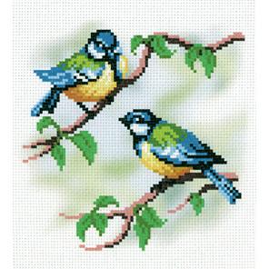 Синички-подружки Канва с рисунком для вышивки МП Студия СК-027