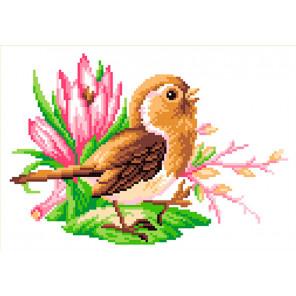 Птичка певчая Канва с рисунком для вышивки МП Студия СК-038