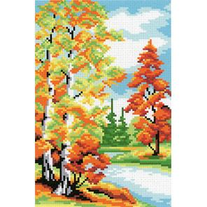 Осенний лес Канва с рисунком для вышивки МП Студия СК-042