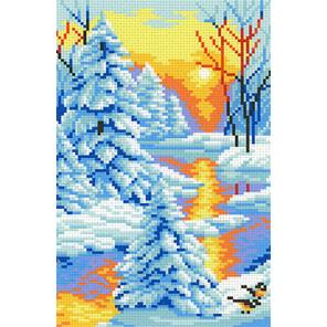 Зимний закат Канва с рисунком для вышивки МП Студия СК-044