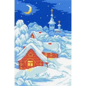 Морозный сочельник Канва с рисунком для вышивки МП Студия СК-046