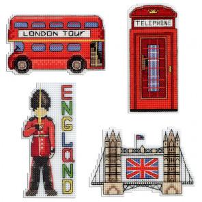 Англия. Магниты Набор для вышивания на пластиковой канве МП Студия Р-305