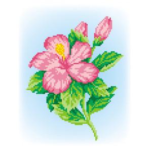 Розовый цветок Набор для вышивания МП Студия КН-372